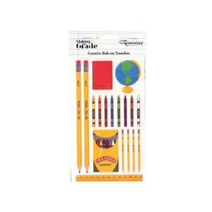 School Creative Rub-On Transfers - Pack of 24