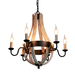 6-Light Tear Drop Chandelier in Matte Black
