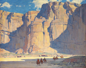 "FOV Editions Canyon de Chelly By Edgar Payne - 28"" X 35"" Unframed Canvas Art Print Wall Poster"