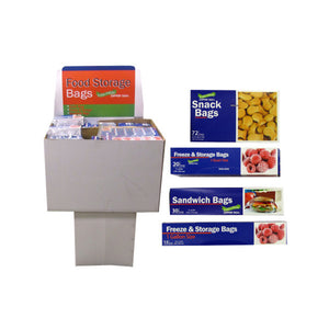 Sandwich And Freezer Bag Display - Case of 180