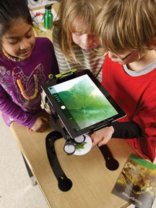 Copernicus Dewey The Document Camera Stand with Microscope, Light and Spring Loaded Clamp for Classroom
