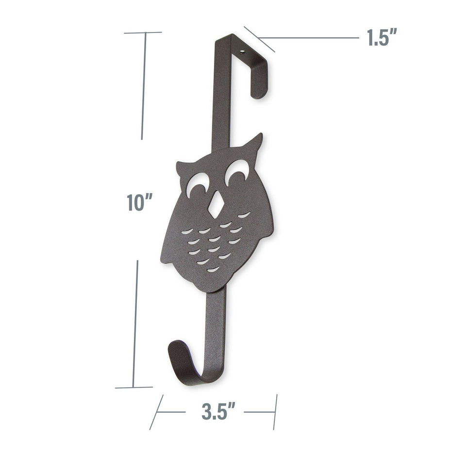 Over the Door Owl Organizer Single Hook, Bronze