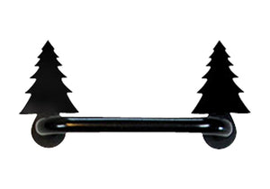 4 Inch Pine Tree Door Handle Horizontal