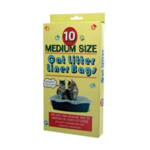 Bulk buys Pet Cat Kitty Dispose Litter box liner Plastic Bags Pack 24
