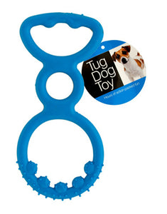 Bulk Buys Durable Plastic Tug Dog Toy - 12 Pack