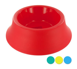 Medium Size Round Plastic Pet Bowl - 12 Pack