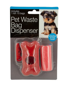 Pet Waste Bag Dispenser With Bags - Pack of 24