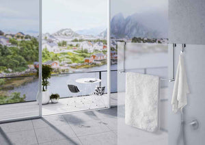 SMEDBO NO Drill Towel Rail for Shower Glass