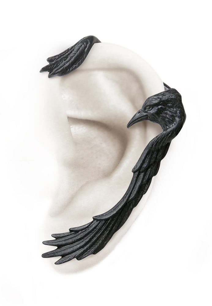 Raven Ear-Wing Ear Wrap - Single Earring for Left Ear