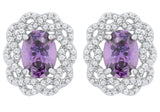 J Goodin Amethyst Oval Stud Earrings