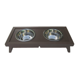 ecoFLEX Adjustable Height Pet Diner-Espresso