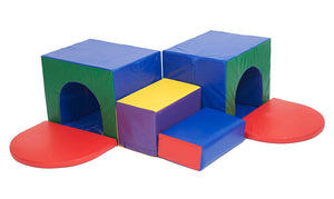 ECR4Kids SoftZone Corner Tunnel Maze Foam Play Climber