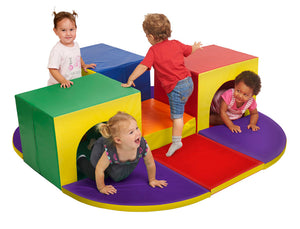 ECR4Kids SoftZone Triple Tunnel Maze Foam Play Climber