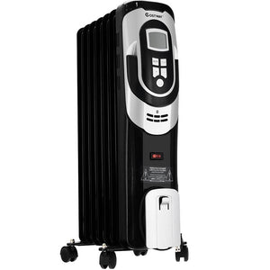1500 W LCD 7-Fin Timer Electric Oil Filled Radiator Heater