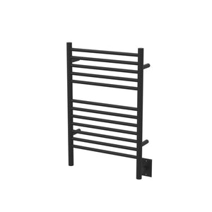 Amba Stainless Steel Jeeves Model E Hardwired Straight Heated Towel Rack for Bathroom, Laundry Room and Wet Room - Matte Black