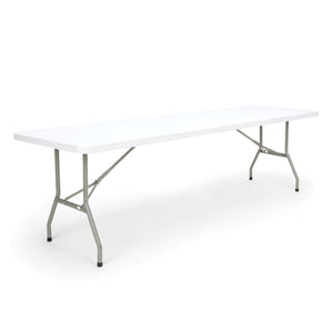 OFM Essentials Collection 8' Blow Molded Folding Utility Table, in White