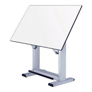 "Alvin Elite Table, White Base White Top 37.5"" x72"""