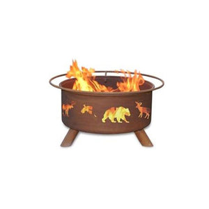 Patina Products Wildlife Classic Fire Pit with Grill