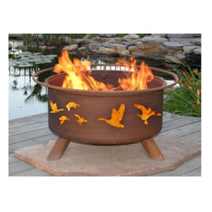 Patina Products Wild Ducks Classic Fire Pit with Grill