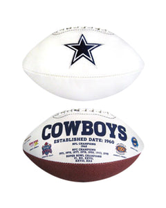 "Dallas Cowboys Embroidered Logo ""Signature Series"" Football"