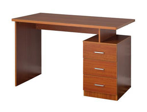 Fineboard Home Office Desk with 3 Drawers - Cherry Finish