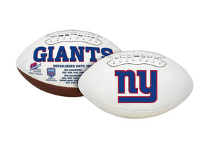 "New York Giants Embroidered Logo ""Signature Series"" Football"