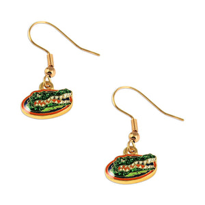 NFL Florida Gators Sports Team Logo Glitter Sparkle Dangle Earring Set