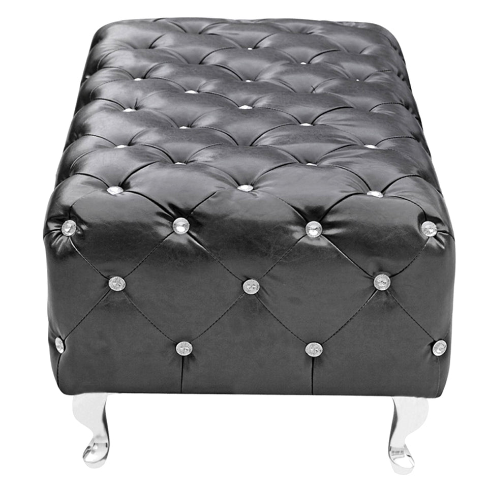 Fine Mod Imports Decorative Furniture Tufted Bench, Black