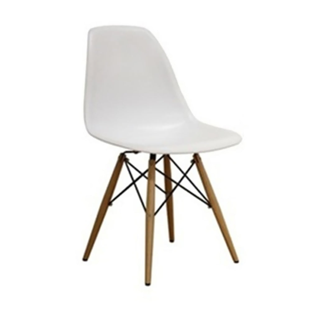 Fine Mod Wood Leg Dining Side Chair