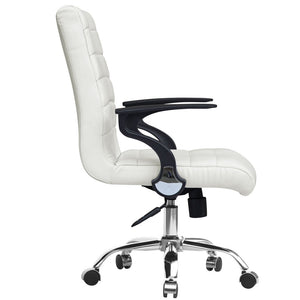 Fine Mod Imports Timeless Office Chair, White