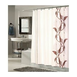 Carnation Home Fashions Chelsea Fabric Shower Curtain in Chocolate