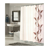 Chelsea Fabric Shower Curtain in Chocolate