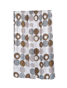 "Madison Extra Long 100% Polyester Fabric Shower Curtain - 70"" Wide X 96"" Long"