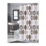 Carnation Home Fashions 100-Percent Polyester Fabric Print 70 by 84 Inch Shower Curtain, X-Long, Madison, Multi Earthtone Colors