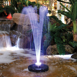 Floating Spray Fountain with 48 LED Light and 550 GPH Pump