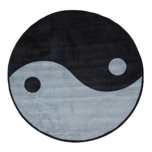 Fun Rugs Ying Yang Accent Rug, 51-Inch Round