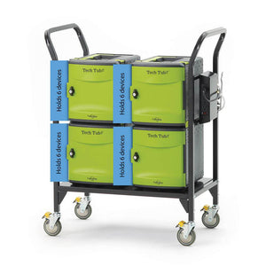 Copernicus Tech Tub2 Modular Charging Cart with Sync and Charge USB Hub - Holds 24 ipads