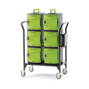 Copernicus Tech Tub2 ipad and Chromebook Charging Modular Cart with 2 Ergonomic Handle - Holds 32 Devices