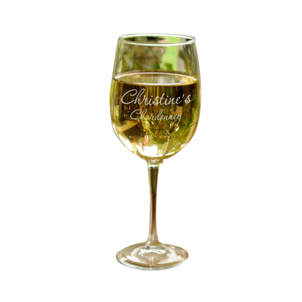Personalized JDS Gifts Home Decorative Connoisseur White Wine Glass (19 oz.)