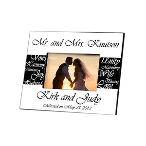 JDS Personalized Gifts GC430 Mrs. Personalized Wedding Frame, Multicolored