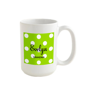 Personalized JDS Gifts Polka Dot Coffee Mug (multiple images)