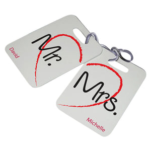 Personalized JDS Gifts Outdoor Travel Couples Luggage Tags Set of 2 Multiple Images