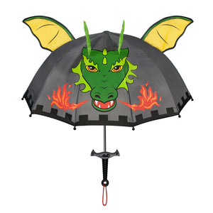 Kidorable grey dragon knight umbrellas