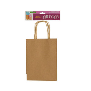 "Kole Imports GH476 Design Your Own Gift Bags Set, 6"" x 9"", Brown"