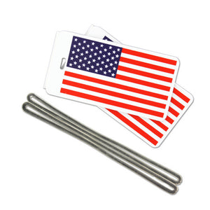 U.S. Flag Luggage Tags - Pack of 24