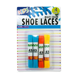 Kids Colored Shoelaces - Pack of 12