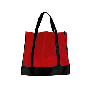 Bulk Buys Red/Black Shopping Tote (Available in a pack of 25)