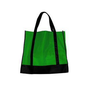 Bulk Buys Green/Black Shopping Tote Pack Of 25