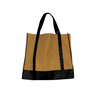 Bulk Buys Tan/Black Shopping Tote (Set of 25)