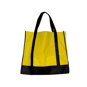 Bulk Buys Yellow/Black Shopping Tote Pack Of 25